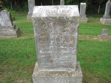 Caroline Militzer gravestone Concordia Frohna MO