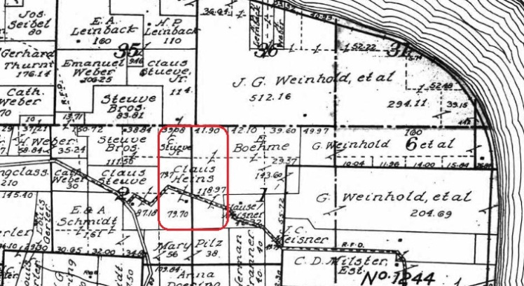 Claus Heins land map 1915