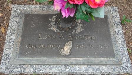 Edna Fischer gravestone Hillsboro Memorial Brandon FL