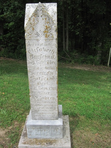 Elizabeth Burfeind gravestone Concordia Frohna MO