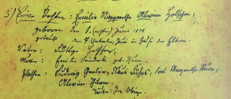 Emilie Holschen baptism record Immanuel Altenburg MO