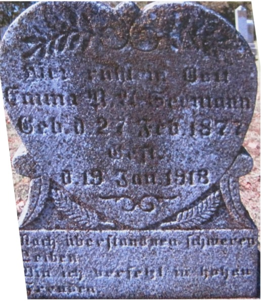 Emma Seemann gravestone Immanuel Altenburg MO