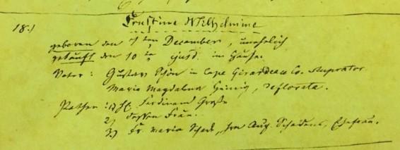 Ernestine Wilhelmine Schoen baptism record Immanuel Altenburg MO