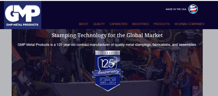 GMP Metal Products website