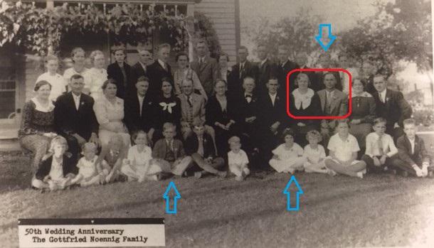Gottfried Noennig family 50th anniversary Albert Telle family members