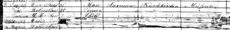 Haberfellner passenger list Ernst Moritz Arndt 1854