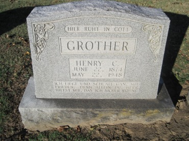 Henry Grother gravestone Immanuel Altenburg MO