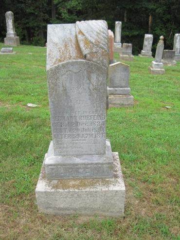 Herman Burfeind gravestone Concordia Frohna MO