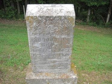 Johann Militzer gravestone Concordia Frohna MO