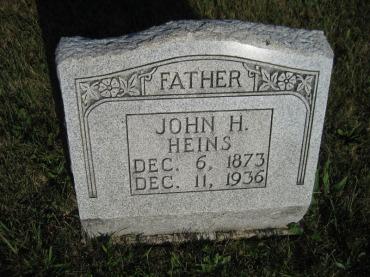John Heins gravestone St. Paul's Wittenberg MO