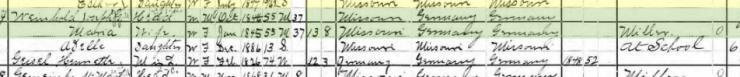 Joseph Weinhold 1900 census Wittenberg MO