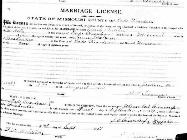 Kutscher Schattauer marriage license
