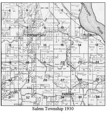 Mahnken map Salem Township 1915