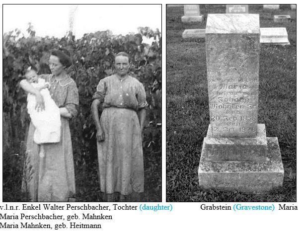 Maria Mahnken and gravestone
