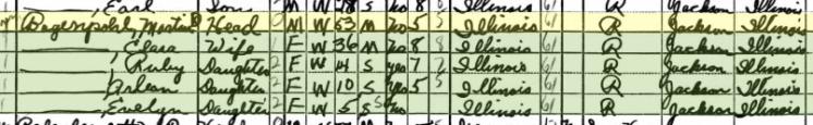 Martin Bogenpohl 1940 census Degognia Township IL