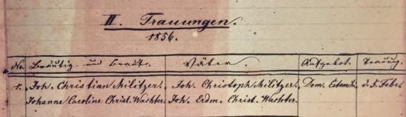 Militzer Wachter marriage record Concordia Frohna MO