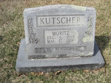 Moritz Kutscher gravestone Immanuel New Wells MO