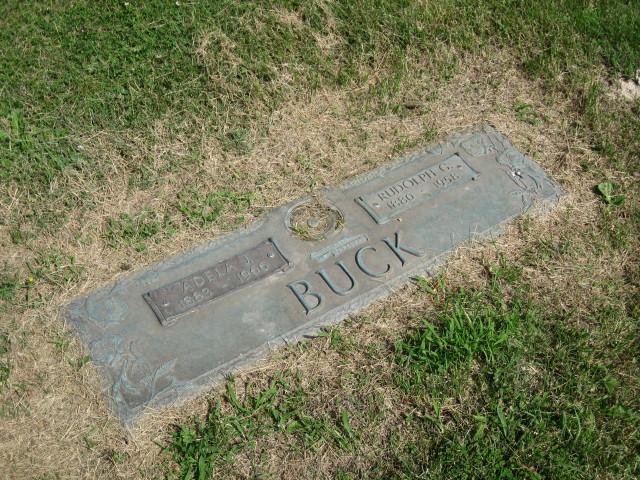 Rudolph and Adela Buck gravestone Pleasant Grove Murphysboro IL