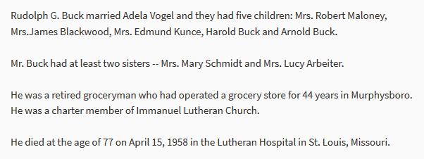 Rudolph Buck information