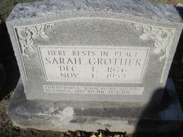 Sarah Grother gravestone Immanuel Altenburg MO