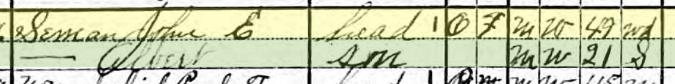 Theodore Seemann 1920 census Altenburg MO