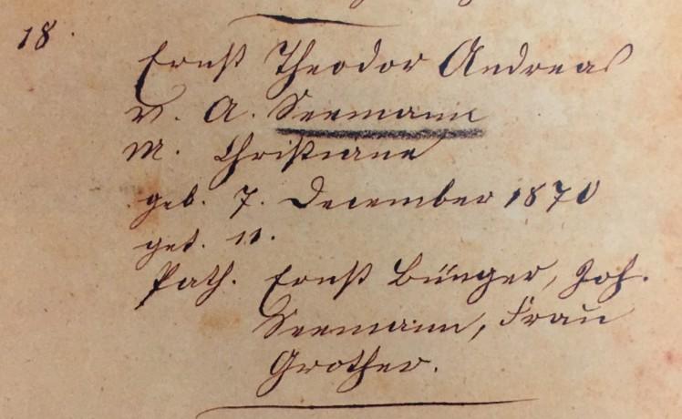 Theodore Seemann baptism record Trinity Altenburg MO