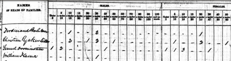 Tirmenstein family 1840 census Perry County MO
