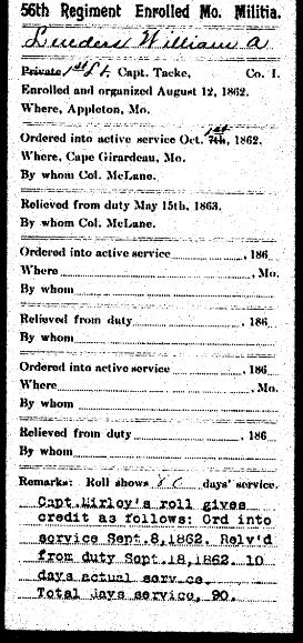 William Lueders Civil War record