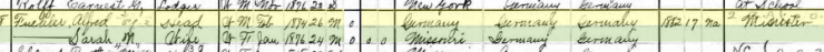 Alfred Fuehler 1900 census Kelso MO