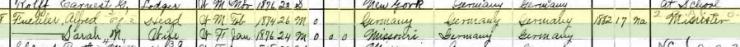 Alfred Fuehler 1900 census Kelso MO