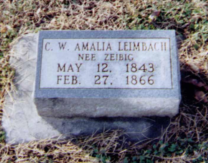 Amalia Leimbach gravestone Immanuel Altenburg MO