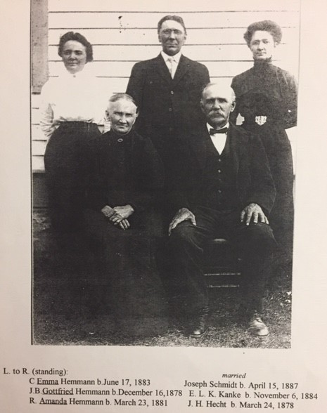 August and Pauline Hemmann family