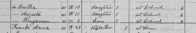Benjamin Brandes 1880 census 2 Union Township MO