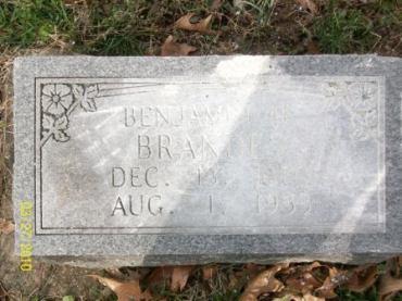 Benjamin Brandes gravestone Grace Uniontown MO
