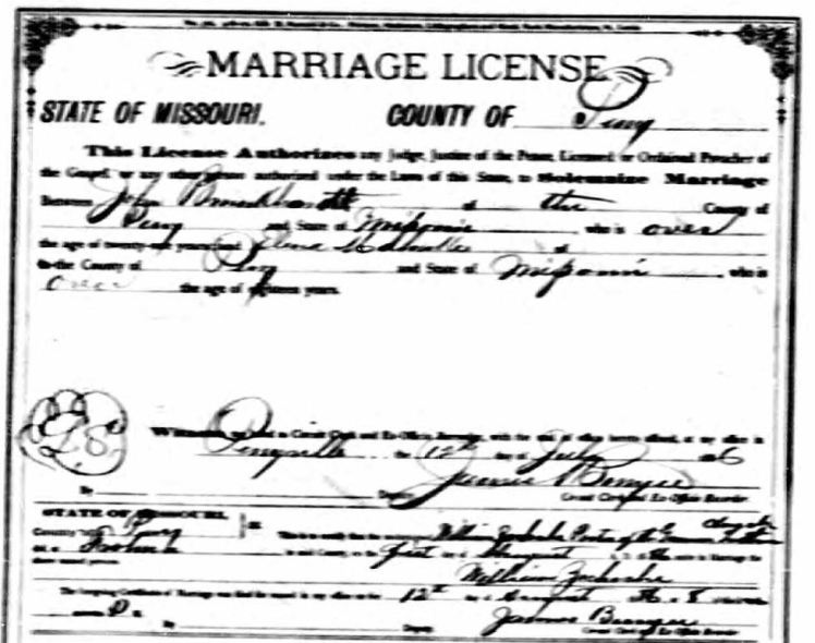 Brunkhorst Mahnke marriage license