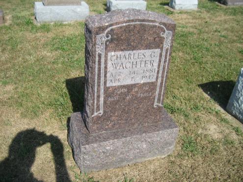 Carl Wachter gravestone Trinity Altenburg MO