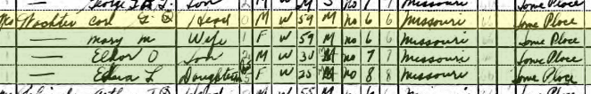 Charles Wachter 1940 census Brazeau Township MO