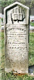 Christiane Kaempfe gravestone Kleinschmidt Cemetery Millstadt IL