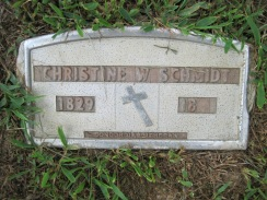 Christine Schmidt grave marker Concordia Frohna MO