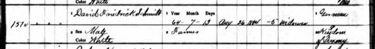 David F. Schmidt death record 1 Perry County MO