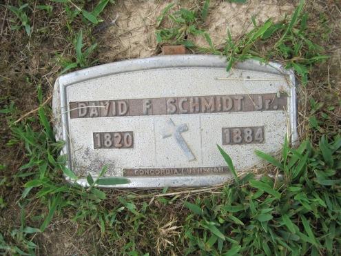 David F. Schmidt grave marker Concordia Frohna MO