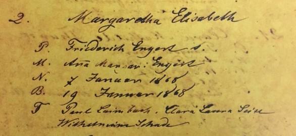 Elisabeth Engert baptism record Immanuel Altenburg MO