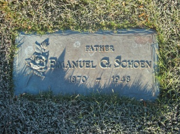 Emanuel Schoen gravestone St. John's Pocahontas MO