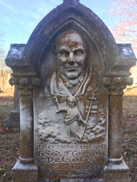 Friedrich Florian Petzoldt gravestone The Face 2
