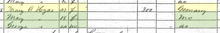 George Heid 1860 census Macoupin County IL
