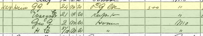 George Heid 1870 census St. Louis MO