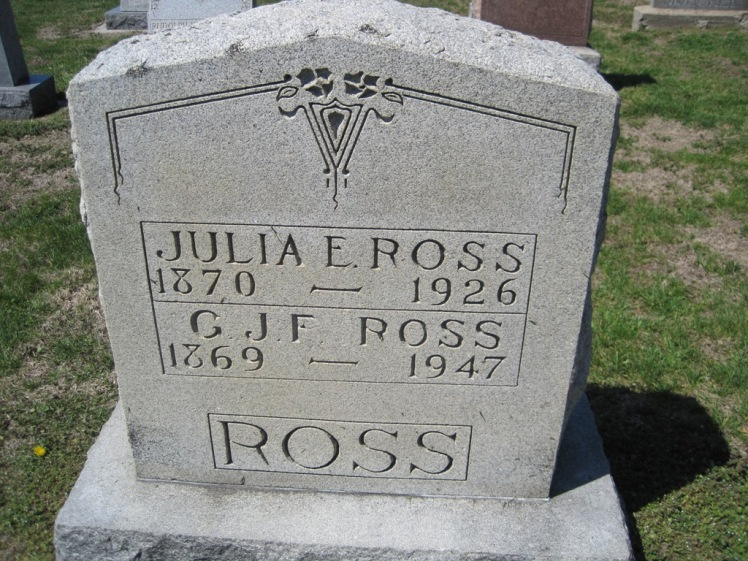 Gottfried and Julia Ross gravestone Christ Jacob IL