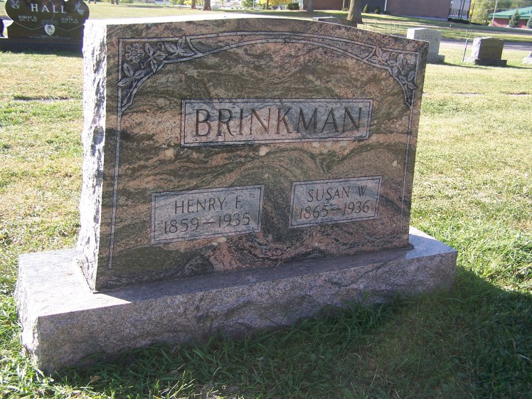 Henry and Susan Brinkmann gravestone Woodlawn LaCrosse WI