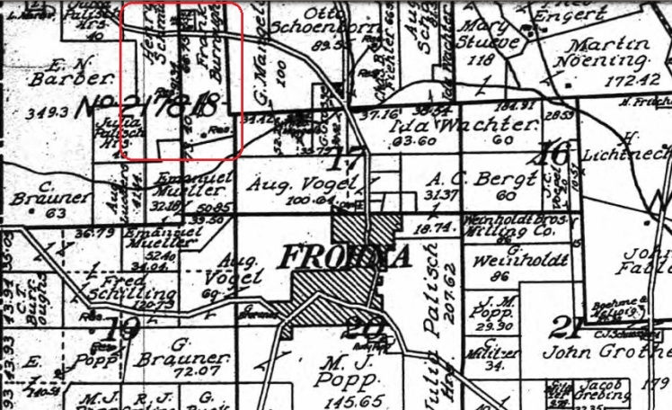 Henry Schmidt land map 1915