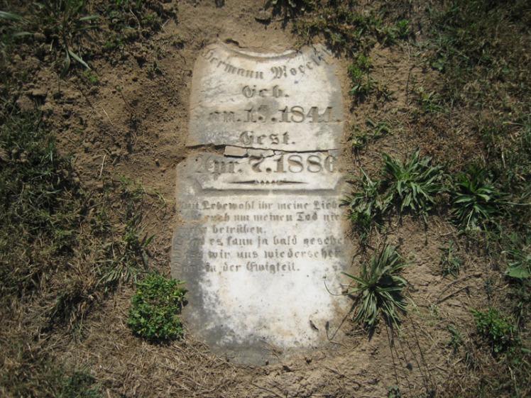 Herman Moeckel gravestone Trinity Altenburg MO